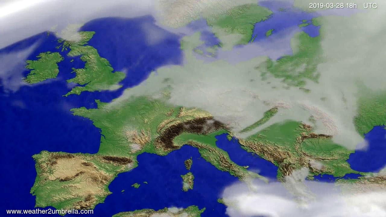 #Weather_Forecast// Cloud forecast Europe 2019-03-27