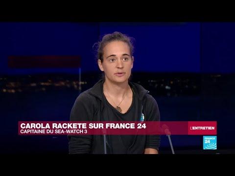 Carola Rackete était l'invitée de France24