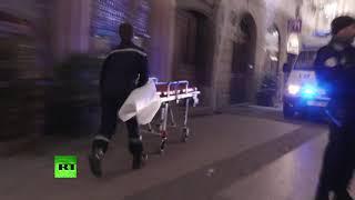 Первые минуты после теракта в Страсбурге попали на видео