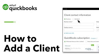 How to Add a Client in QuickBooks Online Accountant