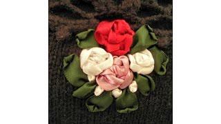 preview picture of video 'Ein Pullover mit Röschen gestickt. Satin ribbon roses.'