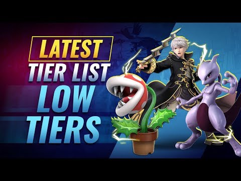 Our Latest Smash Ultimate Tier List - Low Tier Characters