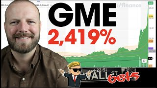 GME Stock up 2,419% MADNESS!! GameStop Stock $GME