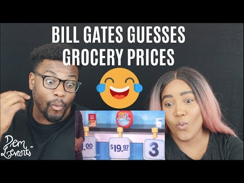 Billionaire Bill Gates Guesses Grocery Store Prices| REACTION