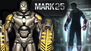 Iron Man Suits : Armor MK 1 to MK 46 Up to Civil War Bleeding Edge
