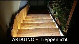 Treppen-Lauflicht mit Bewegungserkennung (Arduino)