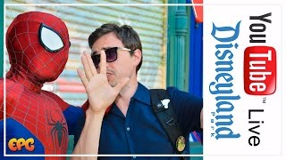 LIVE AT DISNEY CALIFORNIA ADVENTURE | LET'S MEET SPIDER MAN SHALL WE?