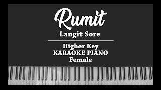 Rumit (FEMALE KARAOKE PIANO COVER) Langit Sore