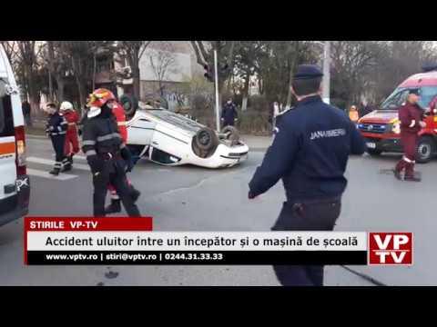 Accident uluitor între un începător și o mașină de școală