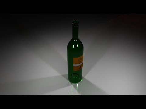 Maya 2016 tutorial : How to model and texture a Wine bottle