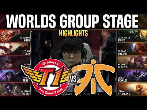 SKT vs FNC Highlights Worlds 2019 Group Stage Day 7 - SKT T1 vs Fnatic Highlights Worlds 2019 Groups