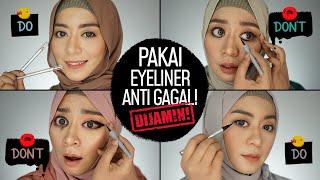Cara Cepat Anti Gagal! Pakai Eyeliner Pensil, Cair, Spidol + 4 Makeup Looks | Do & Donts