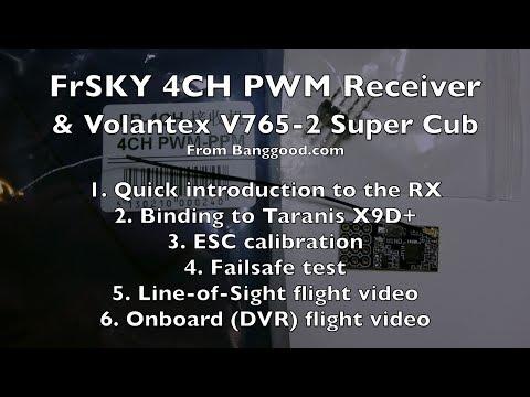 FrSKY PWM RX on Volantex V765 Super Cub