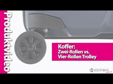 Koffer: Die Kofferrollen - Zwei-Rollen vs. Vier-Rollen Trolley