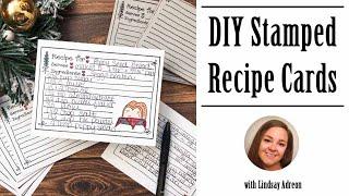 DIY Hand Stamped Recipe Cards