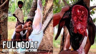 Full Goat Cutting and Cleaning Skills | Mutton Market #Krishnagiri | Tasty Tamil