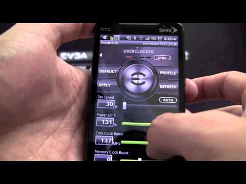 Video of EVGA Precision X APP