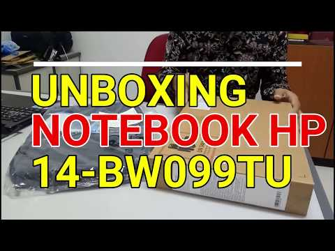 Review & UNBOXING NOTEBOOK HP 14-BW099TU AMD Dual Core E2-9000E
