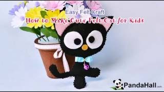 Easy Felt Craft  How To Make Cute Felt Cat For Kids