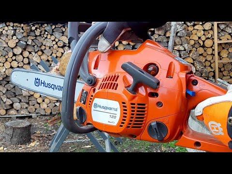 Бензопила HUSQVARNA 120 Mark II (2 ланцюга в комплекті) Video #1