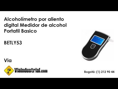 Alcoholímetro por aliento digital Medidor de alcohol Portátil Básico