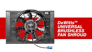 DeWitts New Universal Brushless Fan Kit