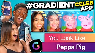 Teens React To Celebrity #Gradient App (Kylie Jenner, Michelle Obama, Post Malone)