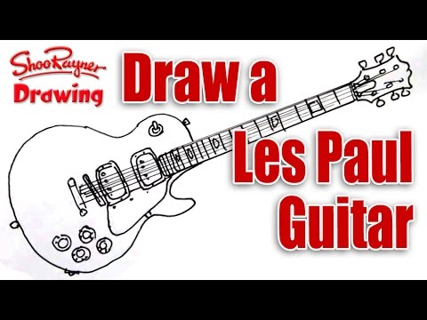 How To Draw A Les Paul Electric Guitar Shoo Rayner Author