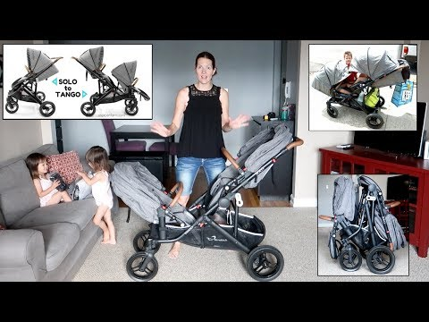 StrollAir Solo to Tango Double Stroller Demo & Review