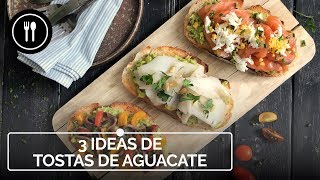 TOSTAS DE AGUACATE: tres recetas fáciles y rápidas de aperitivos de NAVIDAD | Instafood