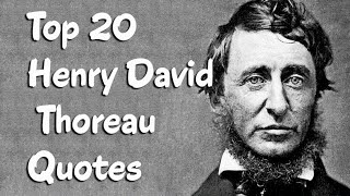 Top 20 Henry David Thoreau Quotes (Author Of Walden)