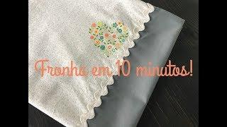 DIY - Fronha/Capa De Travesseiro Em 10 Minutos! (excelente Para Iniciantes Na Costura)