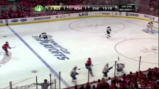 Zdeno Chara hit on Alex Ovechkin. Boston Bruins vs Washington Capitals 4/19/12 NHL Hockey