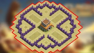 Clash Of Clans - Circle Of Death (BEST TH5 TROPHY / CLAN WAR BASE EVER) - New 2015 HD