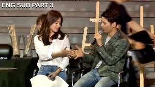 [ENG SUB] Song Joong Ki & Song Hye Kyo Fan Meeting in Chengdu Part 3 HD