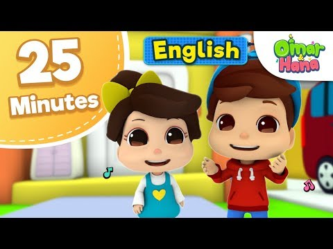 Omar & Hana 25 Minutes Compilation   Islamic Cartoon For Kids   Nasheed for Children