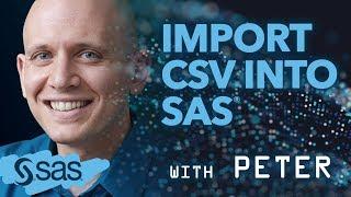 SAS Tutorial | How to import CSV files into SAS