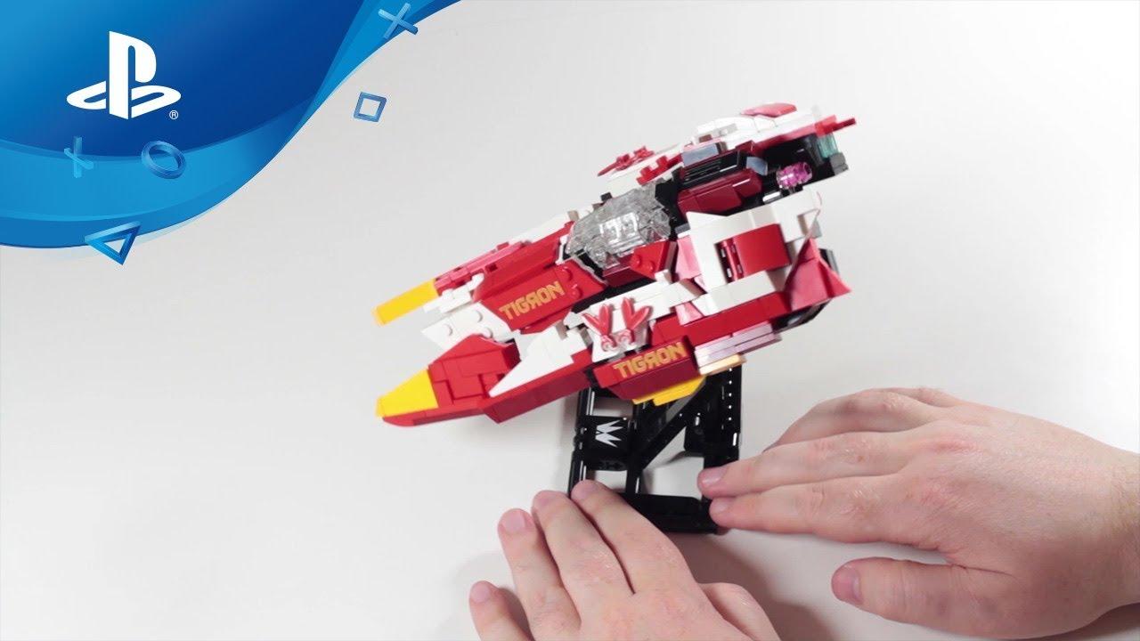 Baut die ikonischen Gleiter aus der WipEout Omega Collection mit LEGO nach