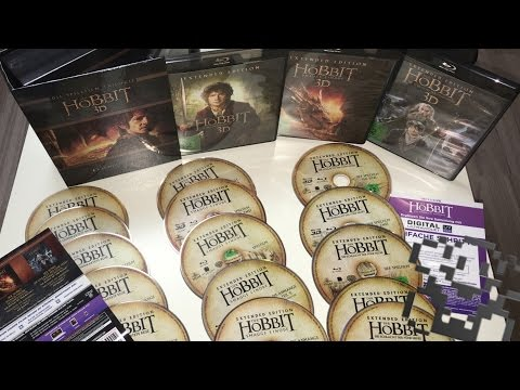Unboxing Der Hobbit Trilogie - Extended Edition [3D Blu-ray] - Unboxing X-MAS [Deutsch]