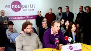 preview picture of video 'Presentació Juanjo Ferrer Alcaldia Sant Antoni'