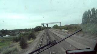 preview picture of video 'Cab ride in EMT HST 43054, London to Leicester last 5 miles into Leicester'