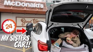 I SPENT 24HOURS IN MY SISTERS CAR! SHE HAD NO IDEA!