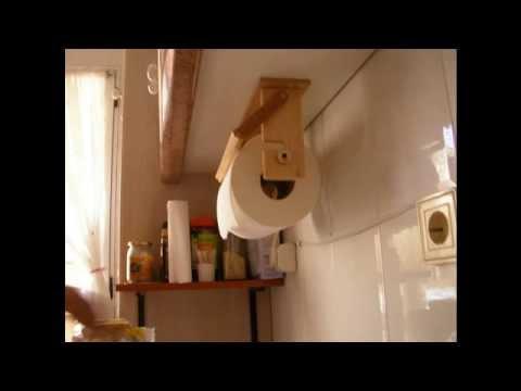 Bricolaje casero 02   Como hacer un dispensador de papel de cocina   Parte 2
