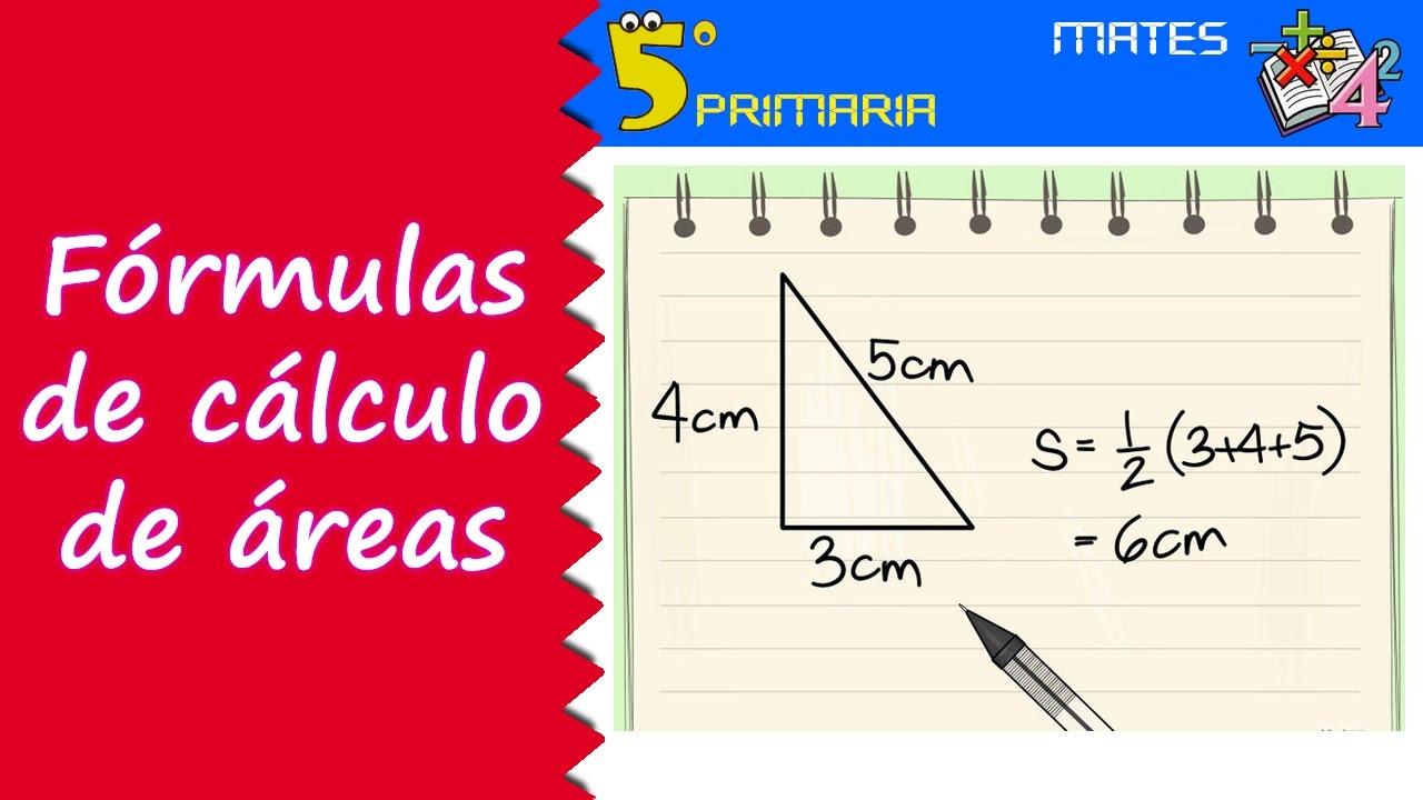 Fórmulas de cálculo de área. Mate, 5º Primaria. Tema 9