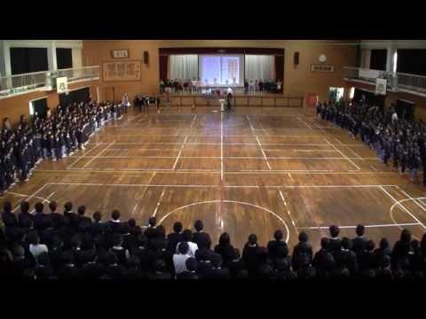 『天主閣』20141224松山市立生石小学校