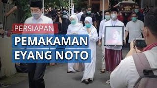 Video Persiapan Pemakaman Ibunda Presiden Jokowi, Gibran Membawa Foto sang Nenek