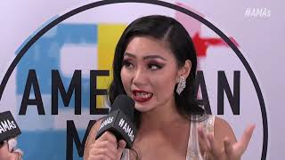Tina Guo Red Carpet Interview - AMAs 2018