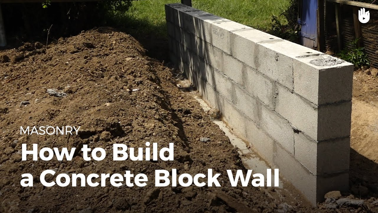 How To Build A Concrete Wall Household Diy Projects Sikana