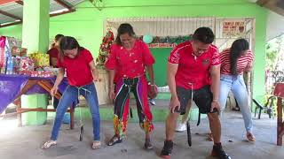 Christmas party with Filipina games ~ A must see video!!  Bacolod City, Negros Island Philippines