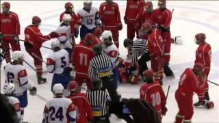 Hockey Fight Belarus U16 vs Slovenia U17